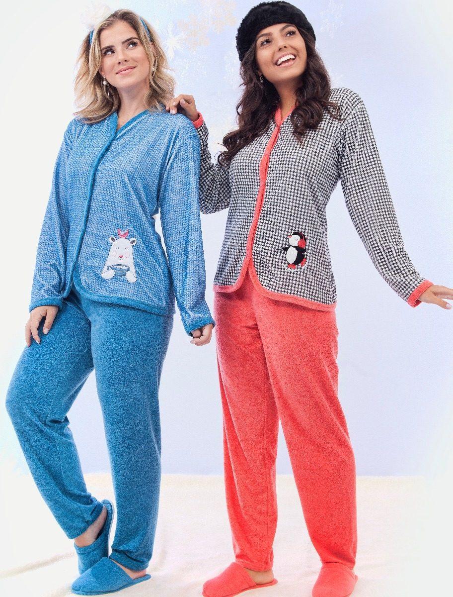 a72bbc372 pijama plus size feminino plush inverno aberto longo frio. Carregando zoom.