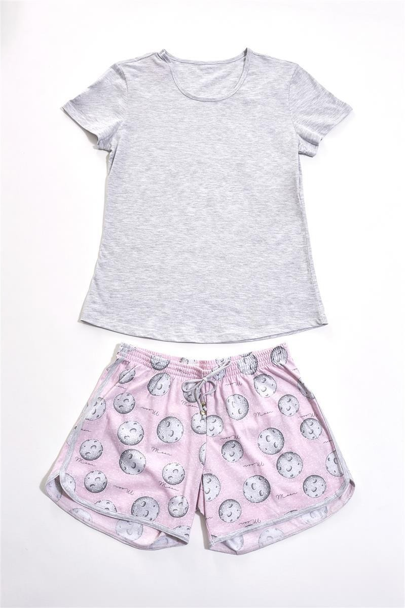 c67878daa20083 Pijama Recco Curto De Malha 100% Algodao - Tamanho 42