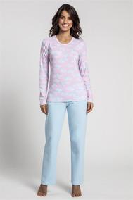 b0df0294185108 Pijama Recco De Malha Touch C/ Moletinho - Tamanho 40