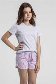 6f0a8d20c9bbd6 Pijama Recco Juvenil De Malha Algodão - Tamanho 14
