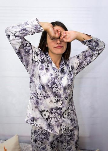 pijama seda 2 piezas mujer armonía floral