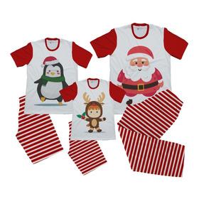 Pijama Set Combo Familiar Navidad Navideño X 3 O Mas