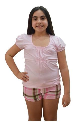 pijama short para niña - 2317