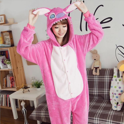 pijama stich kigurumi polar unisex(azul y rosa) envio gratis