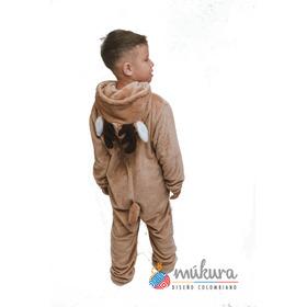 Pijama Térmica Enteriza Reno Niños Talla 8 A 14 Kigurumi