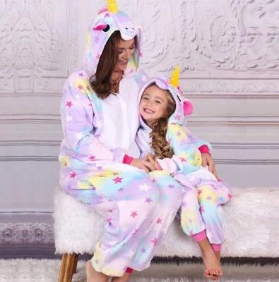 e2b0e5c70 Pijama Unicórnio Adulto Kigurumi Estrelas Frete Grátis!! - R  159