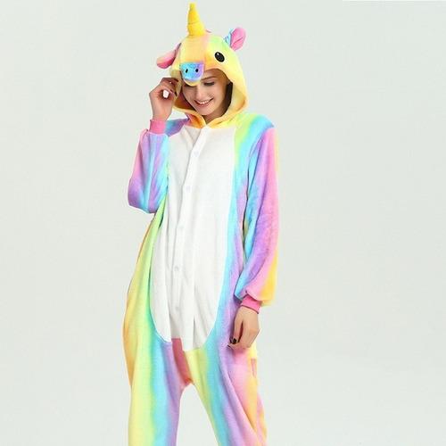 pijama unicornio arcoiris colores bajo envio gratis