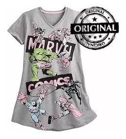 f3327f5e8ca666 Pijama Unicornio Camisola Disney Feminino Vingadores Herois