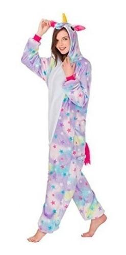 pijama unicornio de estrellas  kawaii adulto polar pantuflas