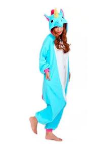 fdae69f6c80ee4 Pijama Unicornio Kigurumi Infantil Inverno Pronta Entrega