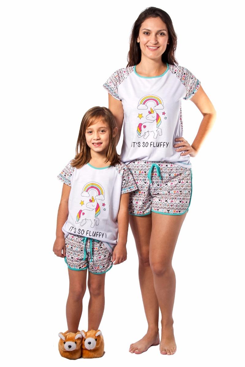 c598de666 pijama unicornio kit mãe e filha feminino curto frete gratis. Carregando  zoom.