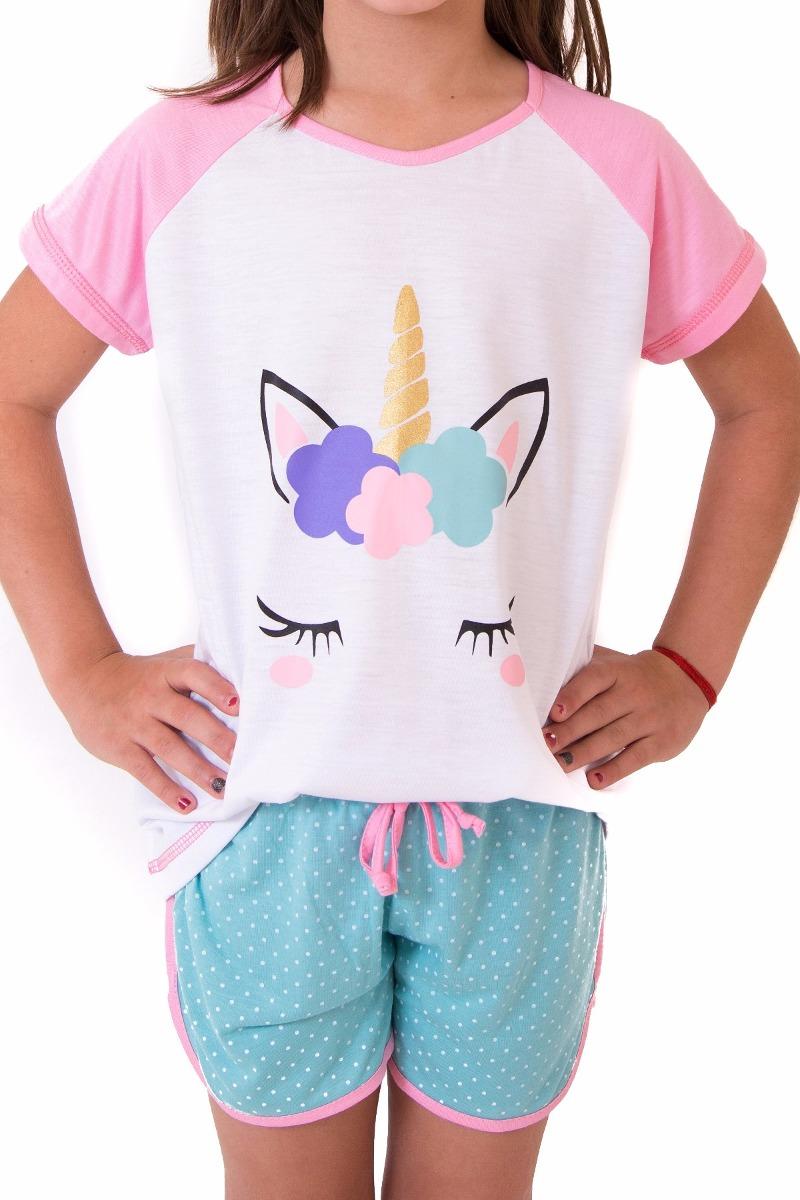 4cd042be0 pijama unicornio kit mãe e filha short doll - frete grátis. Carregando zoom.