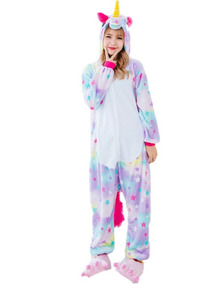 5b416dd7dd6f22 Pijama Unicórnio Macacão Kigurumi Barato Pronta Entrega