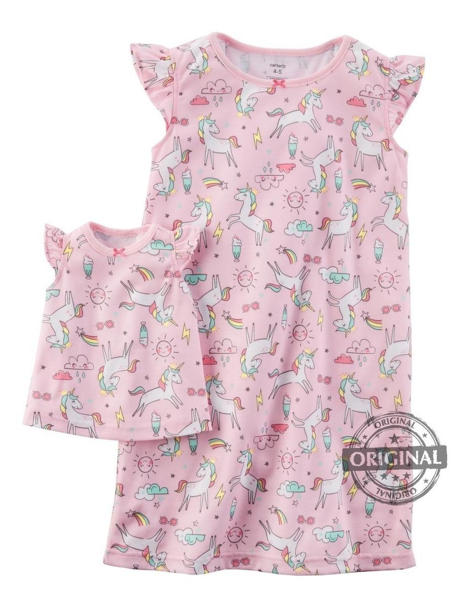 Pijama Verao Unicornio Vestido De Boneca Camisola Carter S R 167