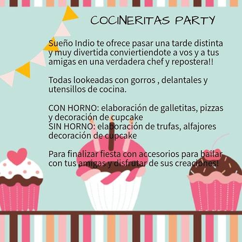 pijamada party,carpa tipi y cocineritas party!