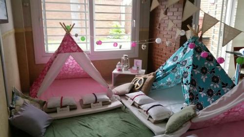 pijamada pijama party piyamada cumpleaños kit carpa tepee