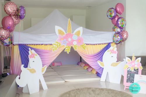 pijamada, pijamada unicornios, pijama party, alquiler carpas