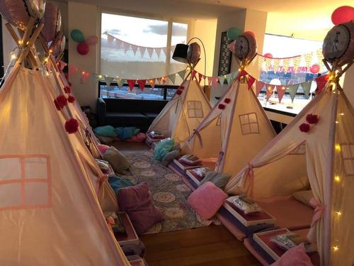 pijamadas eventos infantiles con teepees, tipis, pára niños