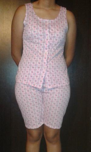 pijamas abiertas de botones para damas preciosas en algodon
