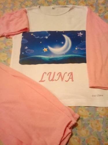 pijamas con la imagen que vos quieras