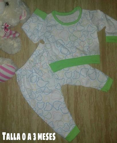 pijamas de bebé recien nacido 100% algodón.