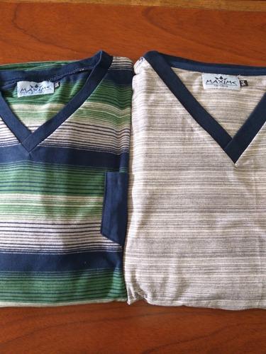 pijamas de invierno, de algodon mangas largas.