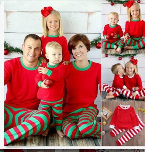 Pijamas De Navidad Juego Familiar Conjunto Kids 10