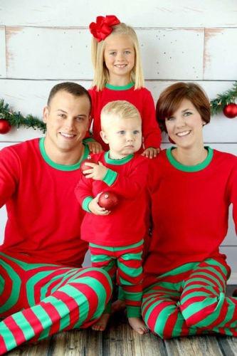 Pijamas De Navidad Juego Familiar Conjunto Papa S M