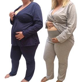 d6294e23285786 Pijamas Feminino Plus Size Gestante Até Tamanho 56 -7885/022
