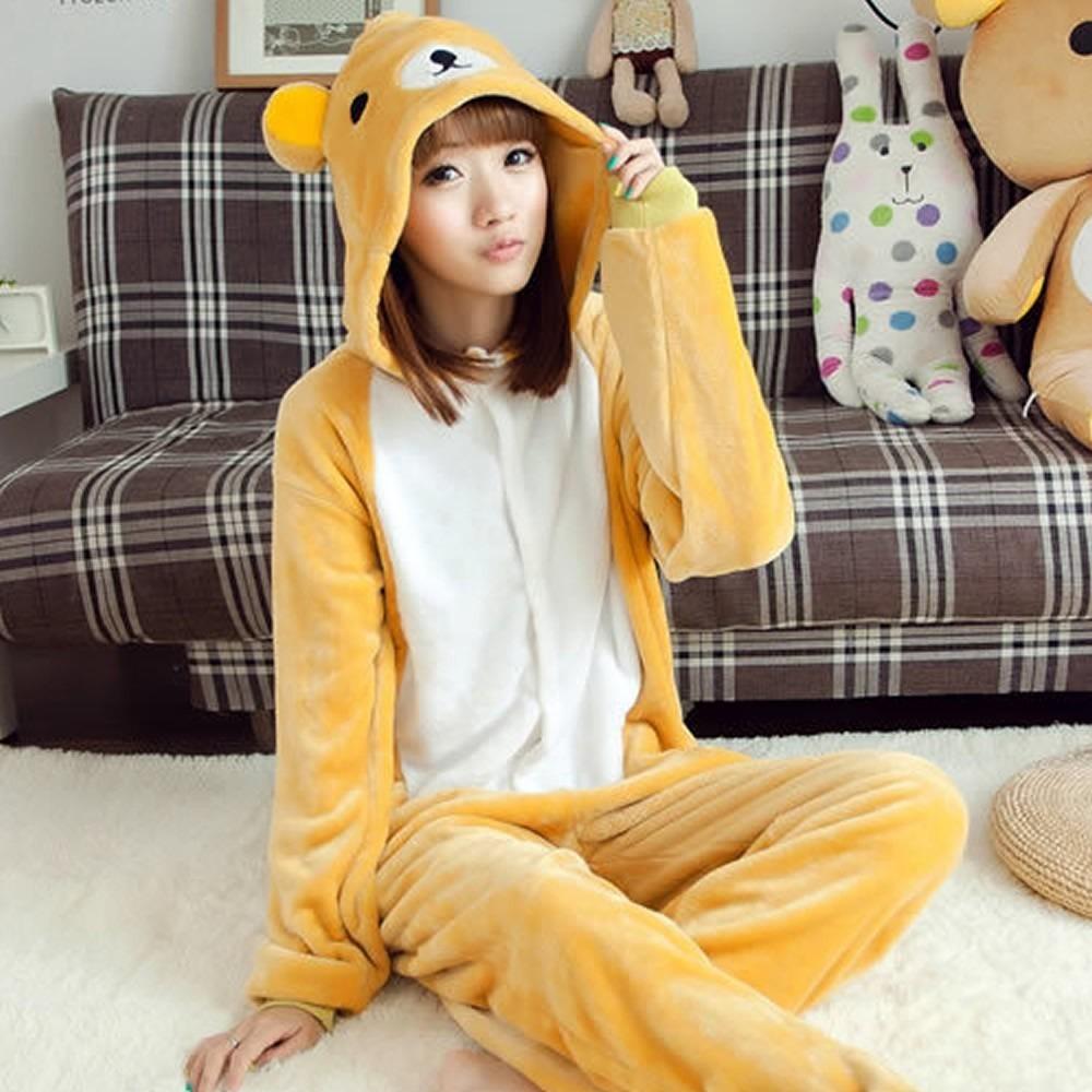 6bfd7d689c64e7 Pijamas Kigurumi De Animais Macacão