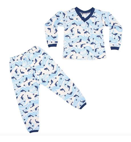 pijamas menino infantil inverno roupa de dormir revenda 10pç