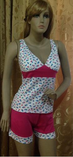 pijamas para dama en algodón diferentes estilos y colores,