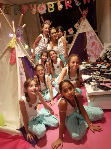 pijamas party,camping,carpas, fiestas infantiles mini spa