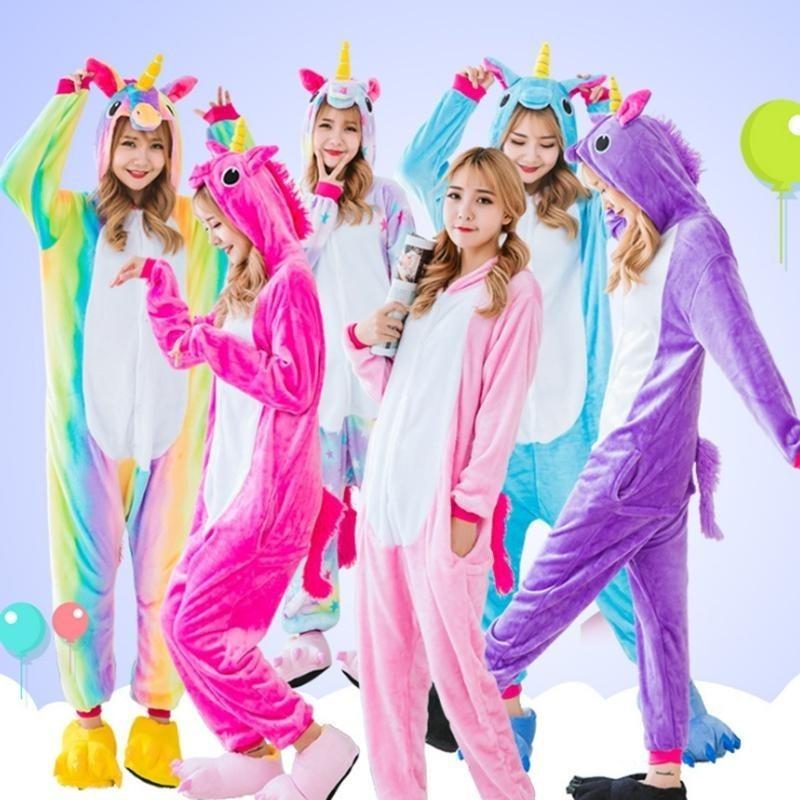7c1b0519d024 pijamas polar unicornios para niñas / jóvenes / adultos. Cargando zoom.