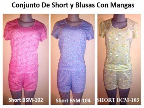 9e83bda31 Pijamas Short Para Damas 100% Algodón - Bs. 0
