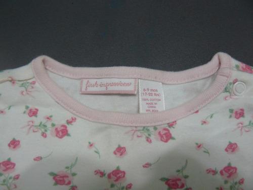 pijamita pijama de niña marca first imrpesion talla 6-9meses
