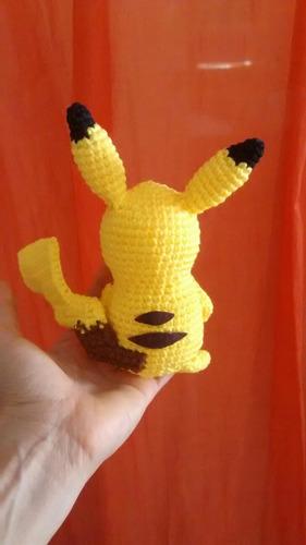 pikachu 15cm pokemon peluche tejido a mano