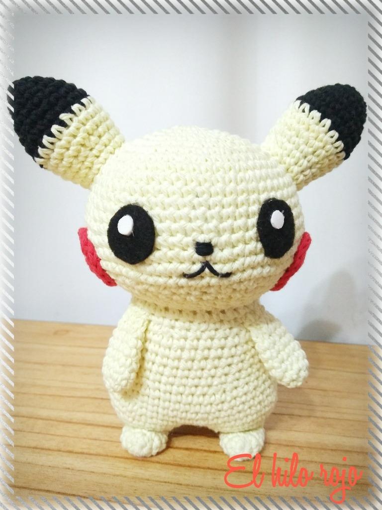 Pikachu Amigurumi! Crochet - $ 350,00 en Mercado Libre