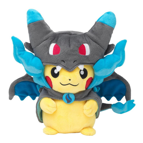 pikachu mega charizard x peluche pokemon center original