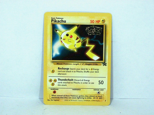 pikachu pokemon first movie promo card  novo original