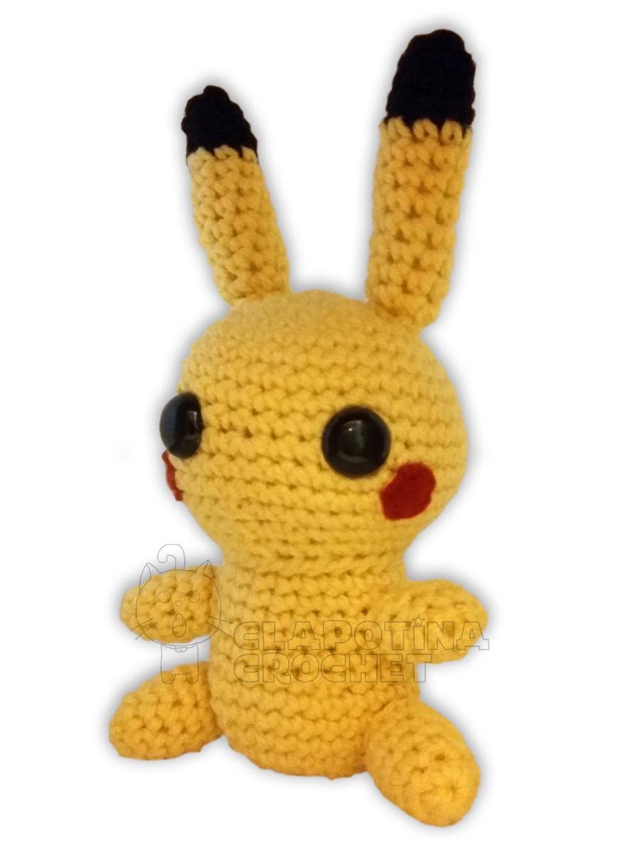 Pikachu Pokémon Kaiju Amigurumi Por #clapotinacrochet - $ 300.00 en ...