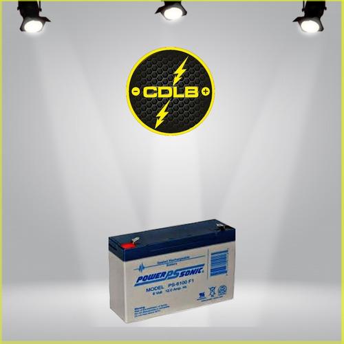 pila acumulador o bateria vrla 6 voltios 12 amp recargable