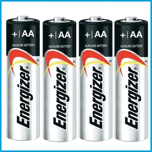 pila alcalina aa energizer blister x4 bateria
