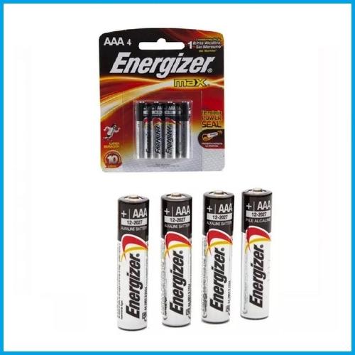 pila alcalina aaa energizer blister x4