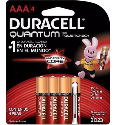 pila alcalina duracell quantum aaa 4 unidades -