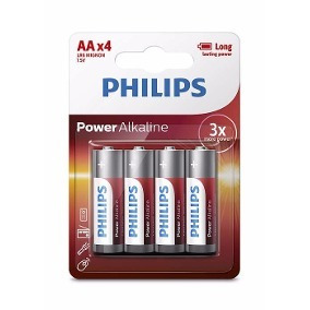 pila alkalina philips blister x 4 aa - red technology