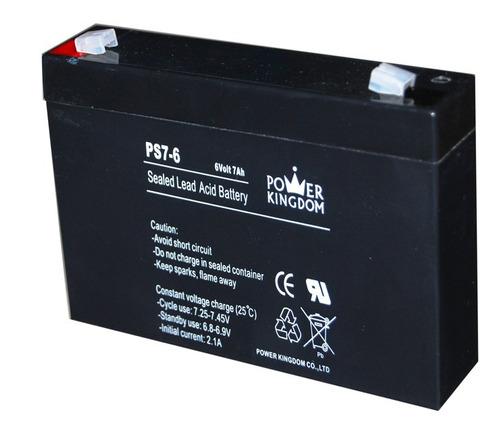 pila bateria 6 v 7 ah lampara emergencia ups cerco eléctrico