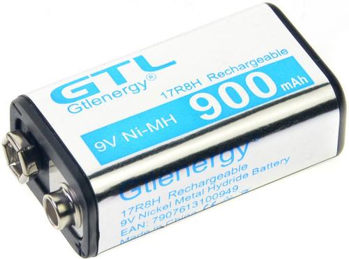 pila batería 9 voltios recargable 900 mah micrófono alarma