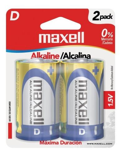 pila bateria alcalina tipo d maxell