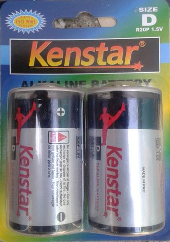 pila  batería alkalina tipo d 1.5 v marca: kenstar - 6 blist